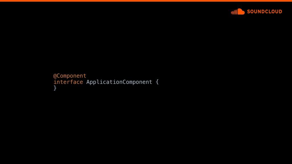 @Component interface ApplicationComponent {a }d