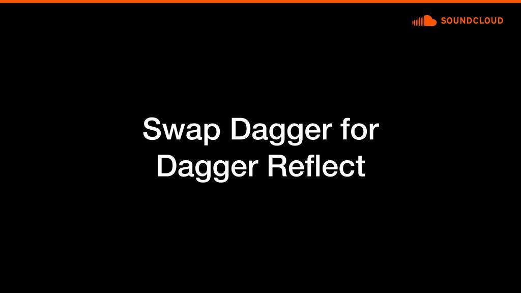 Swap Dagger for Dagger Reflect