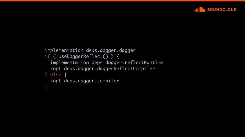 implementation deps.dagger.dagger if ( useDagge...