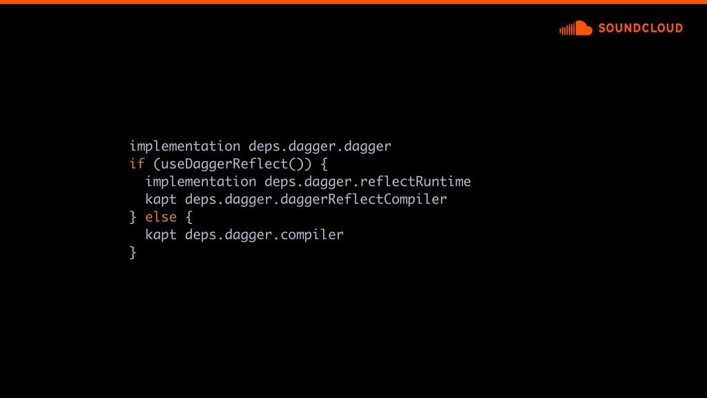 implementation deps.dagger.dagger if (useDagger...
