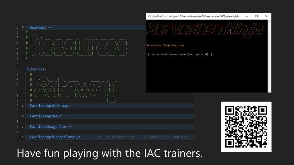 Have fun playing with the IAC trainers.