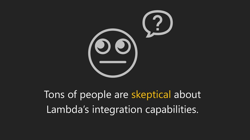 Tons of people are skeptical about Lambda's int...