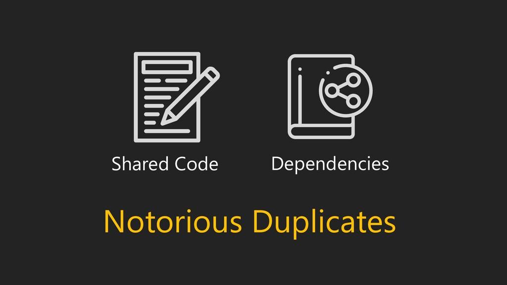 Shared Code Dependencies Notorious Duplicates