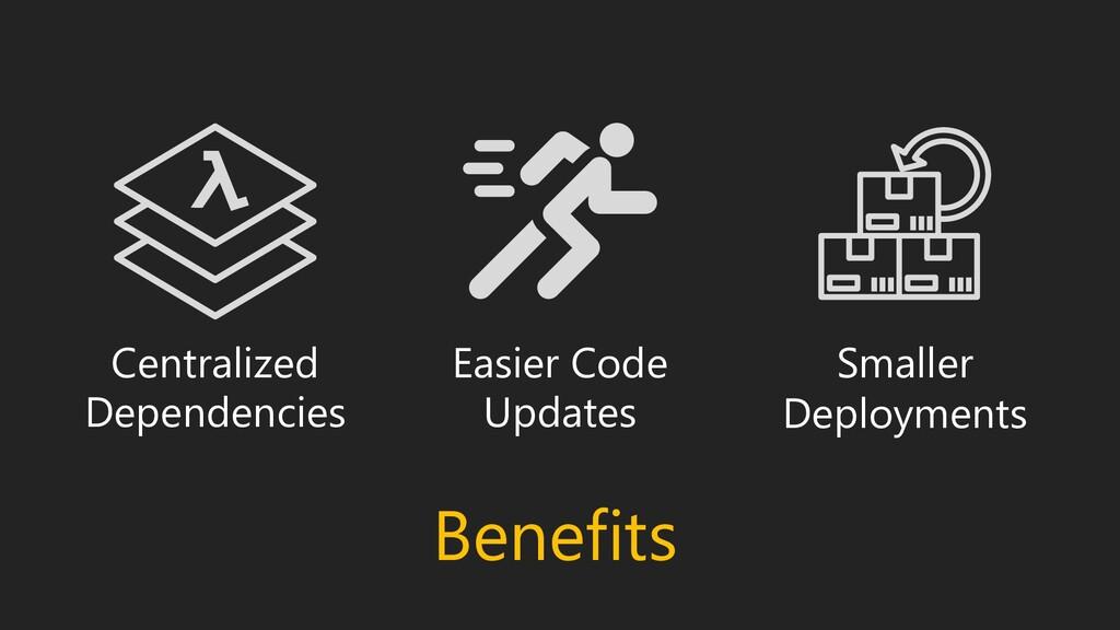 Benefits Centralized Dependencies Easier Code U...