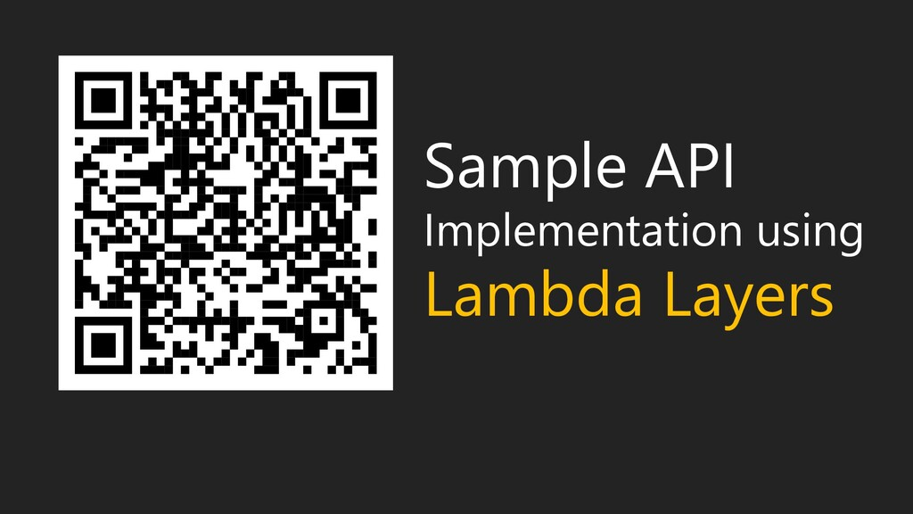 Sample API Implementation using Lambda Layers