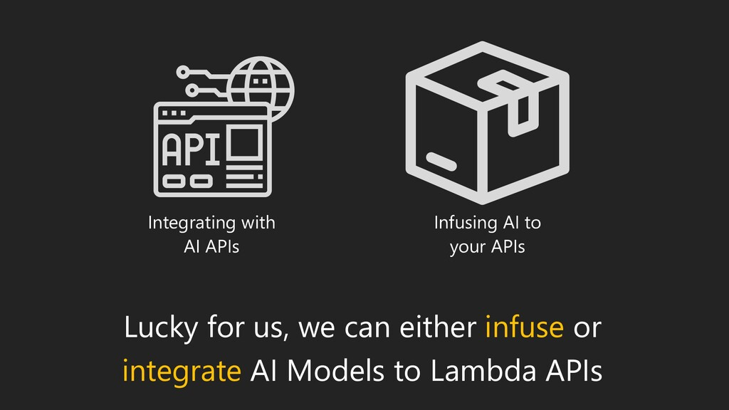 Lucky for us, we can either infuse or integrate...