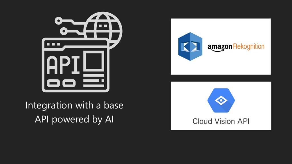 Integration with a base API powered by AI