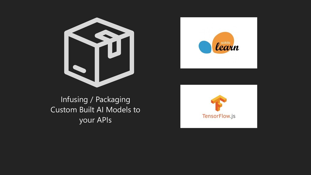 Infusing / Packaging Custom Built AI Models to ...