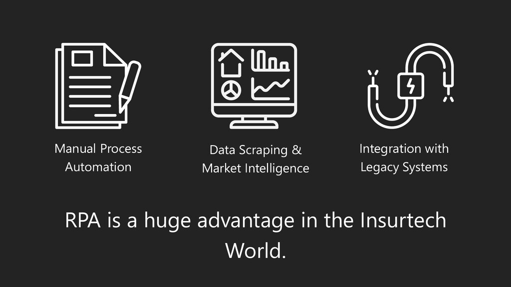 RPA is a huge advantage in the Insurtech World....
