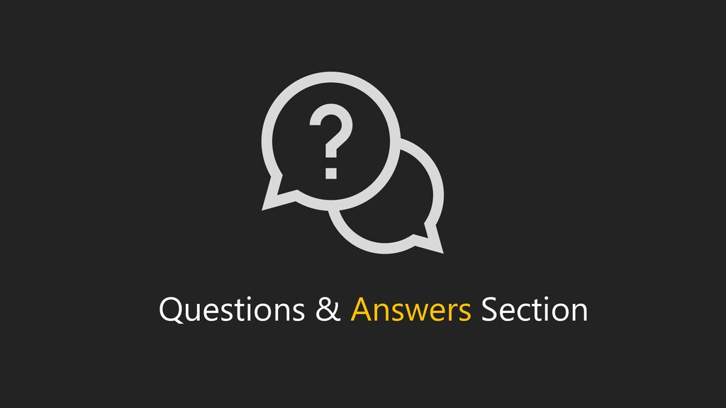 Questions & Answers Section