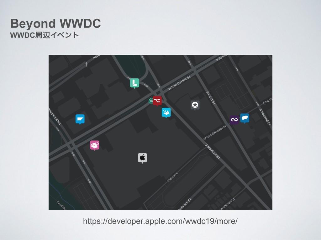 Beyond WWDC WWDCपลΠϕϯτ https://developer.apple....