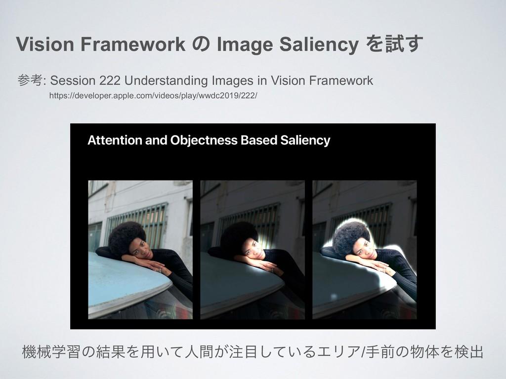 Vision Framework ͷ Image Saliency Λࢼ͢ ߟ: Sessi...