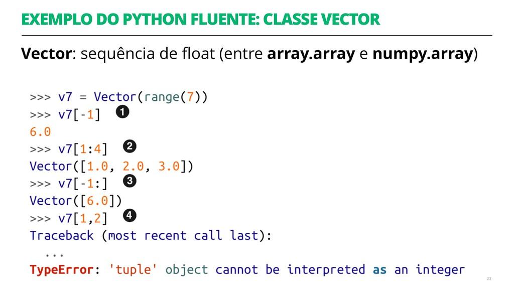 EXEMPLO DO PYTHON FLUENTE: CLASSE VECTOR Vector...