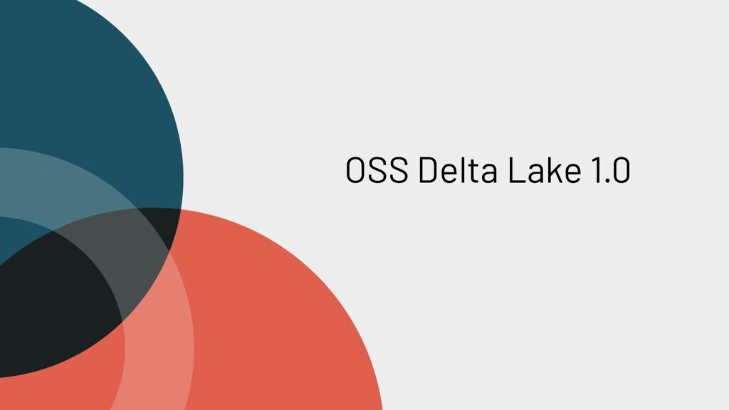 OSS Delta Lake 1.0