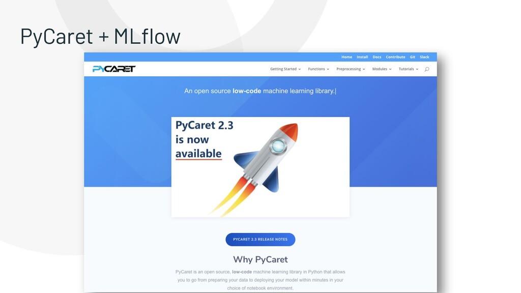 PyCaret + MLflow