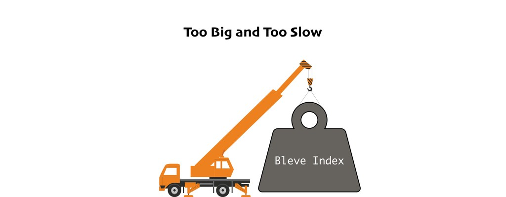Too Big and Too Slow Bleve Index