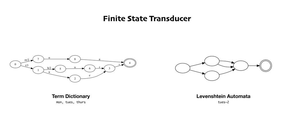 Finite State Transducer Term Dictionary Levensh...