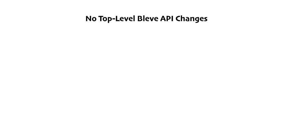 No Top-Level Bleve API Changes