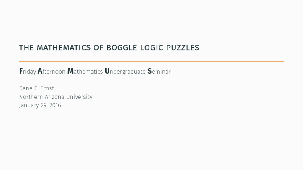 the mathematics of boggle logic puzzles Friday ...