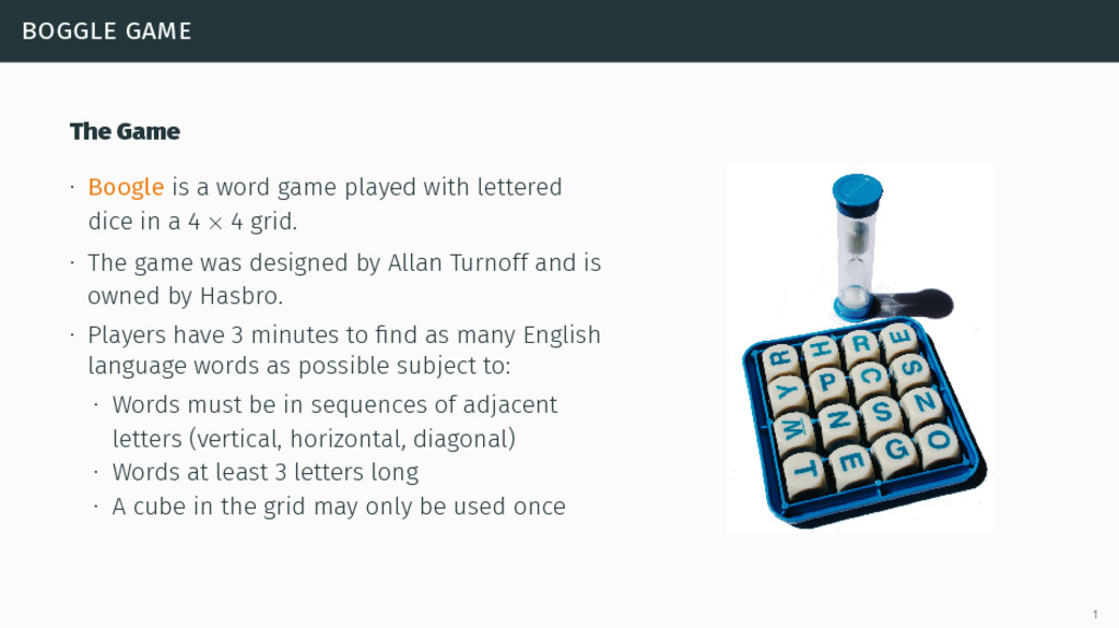 boggle game The Game ∙ Boogle is a word game pl...
