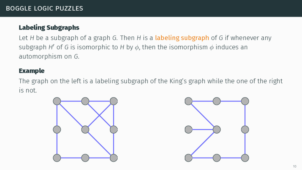 boggle logic puzzles Labeling Subgraphs Let H b...