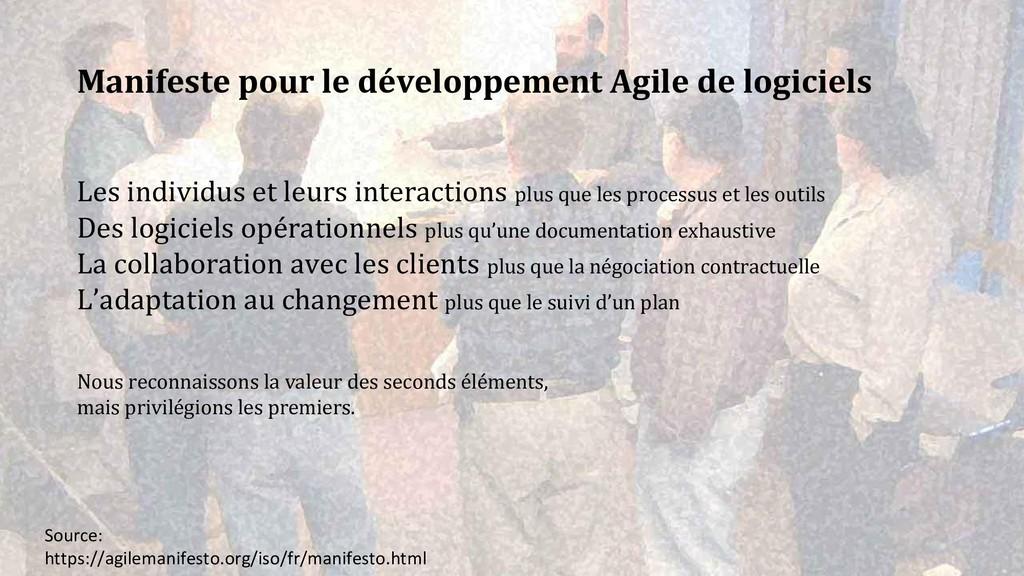 Manifeste pour le développement Agile de logici...