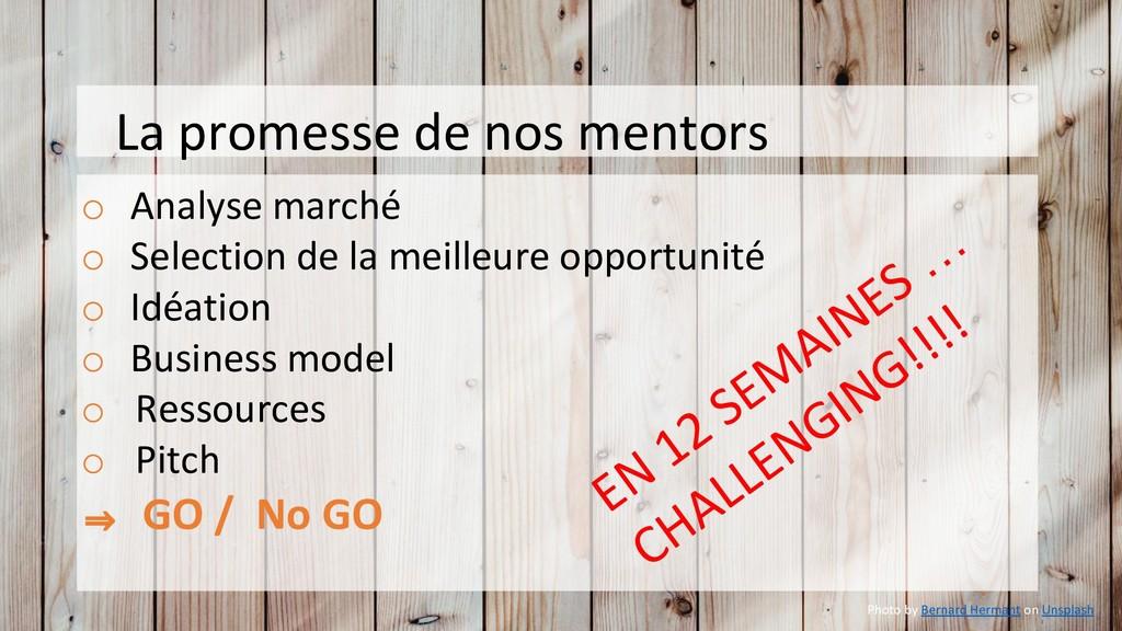 La promesse de nos mentors o Analyse marché o S...