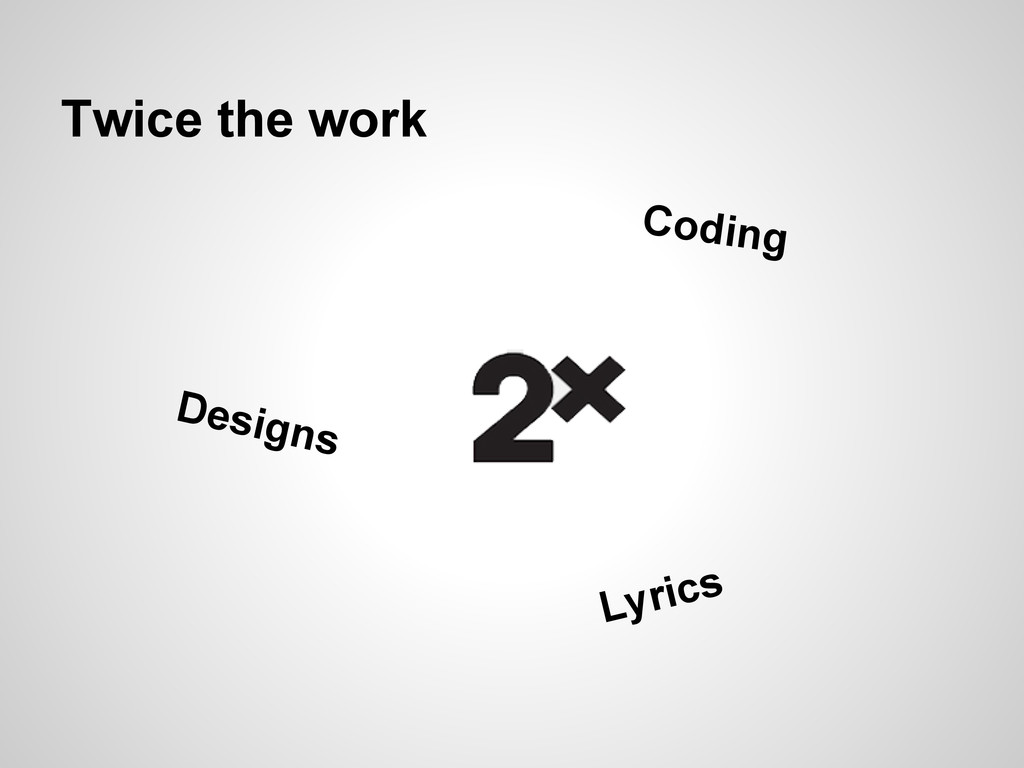 Twice the work Lyrics Designs Coding