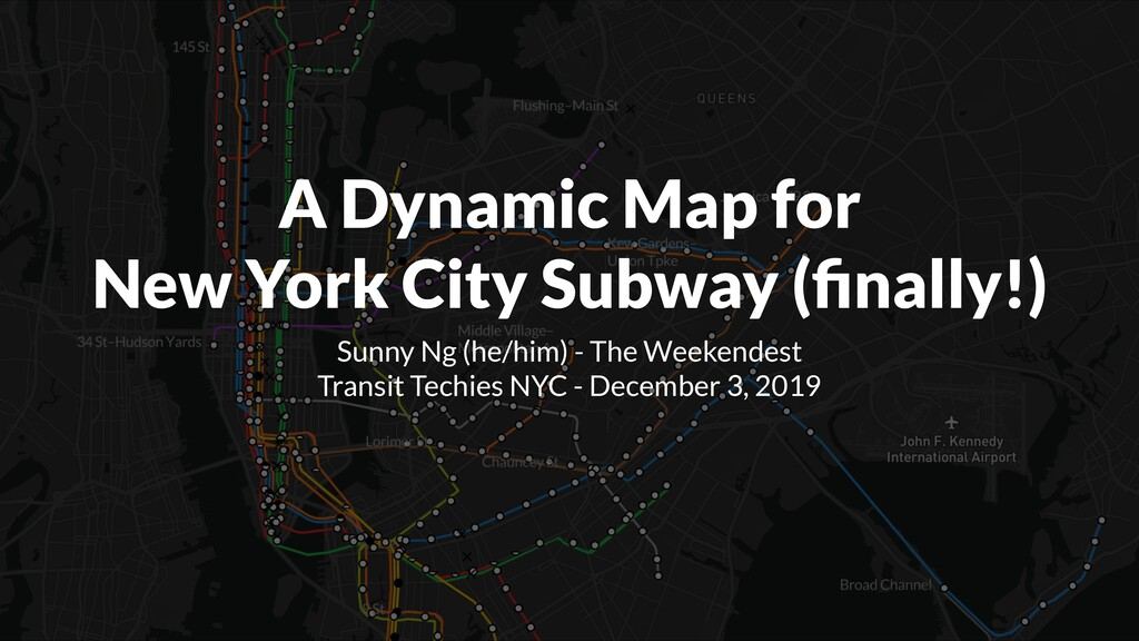 A Dynamic Map for New York City Subway (finally!...
