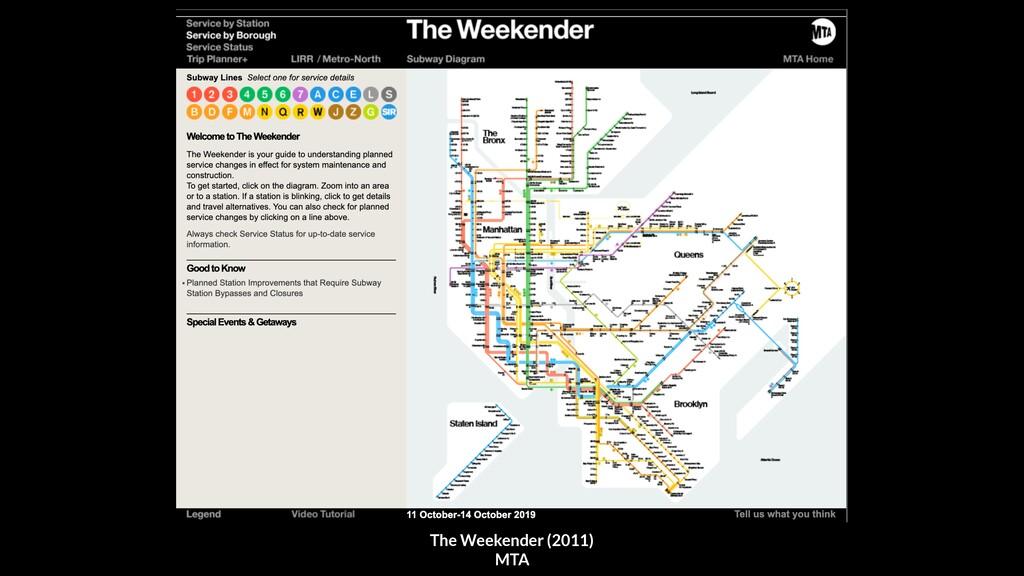 The Weekender (2011) MTA