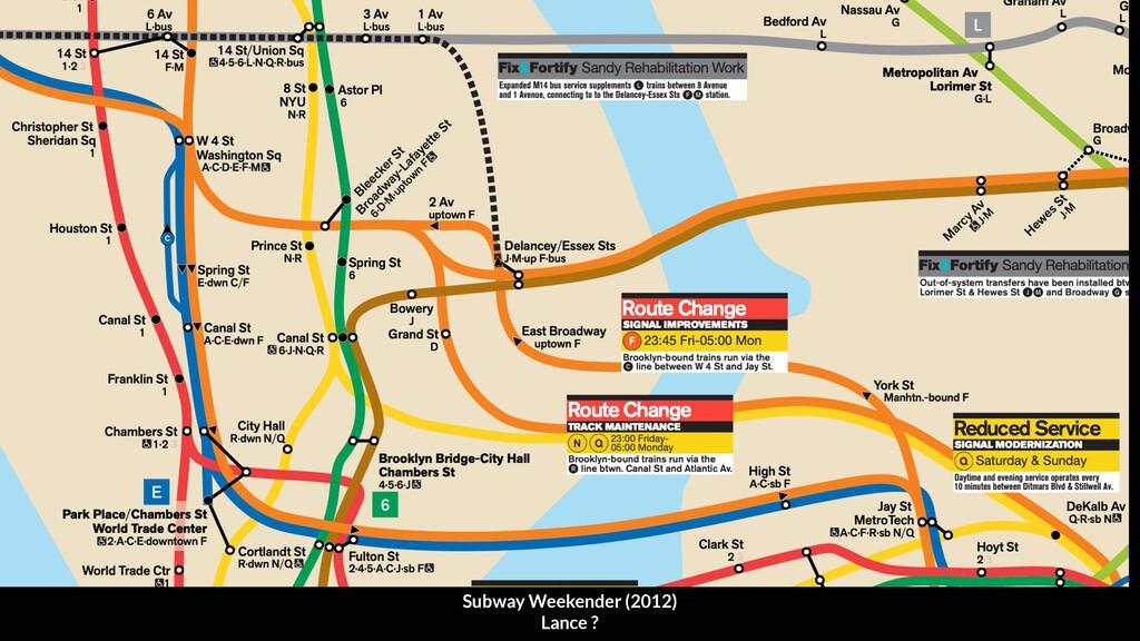 Subway Weekender (2012) Lance ?