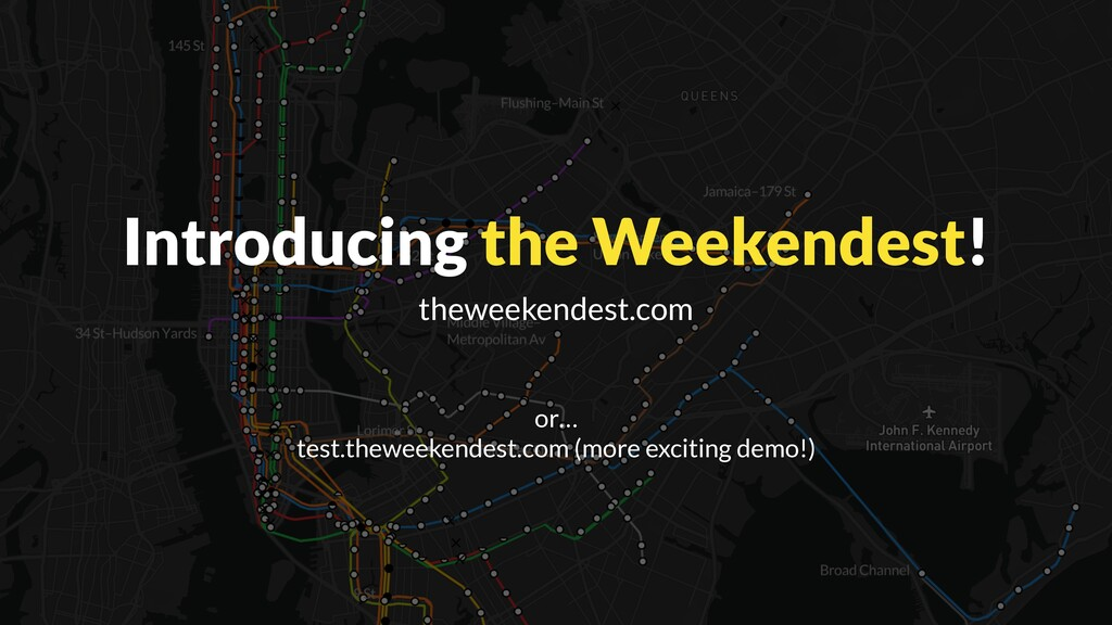 Introducing the Weekendest! theweekendest.com o...