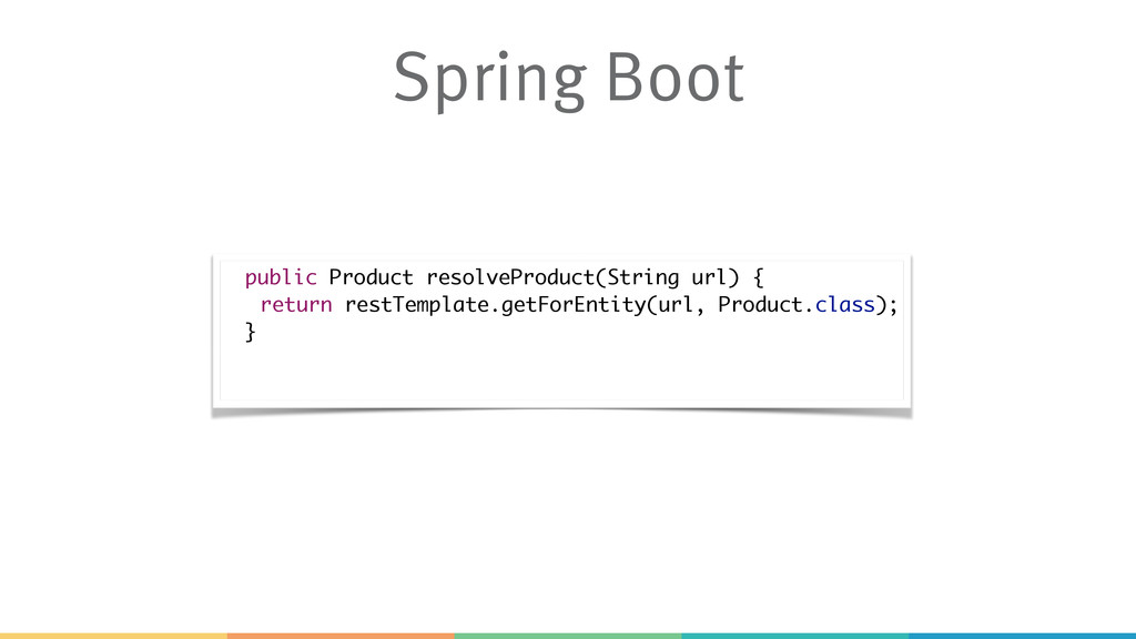 Spring Boot public Product resolveProduct(Strin...