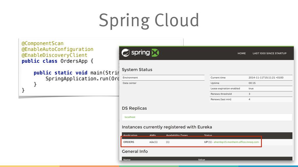 Spring Cloud @ComponentScan @EnableAutoConfigu...