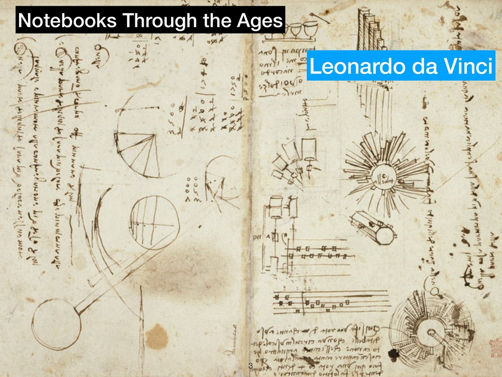 !3 Notebooks Through the Ages Leonardo da Vinci