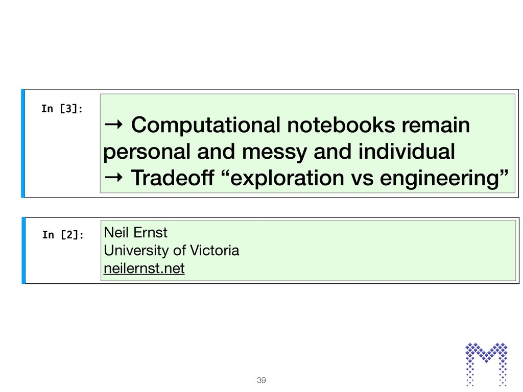→ Computational notebooks remain personal and m...
