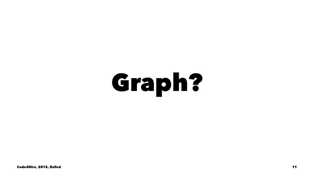 Graph? Code4Hire, 2015, DaFed 11