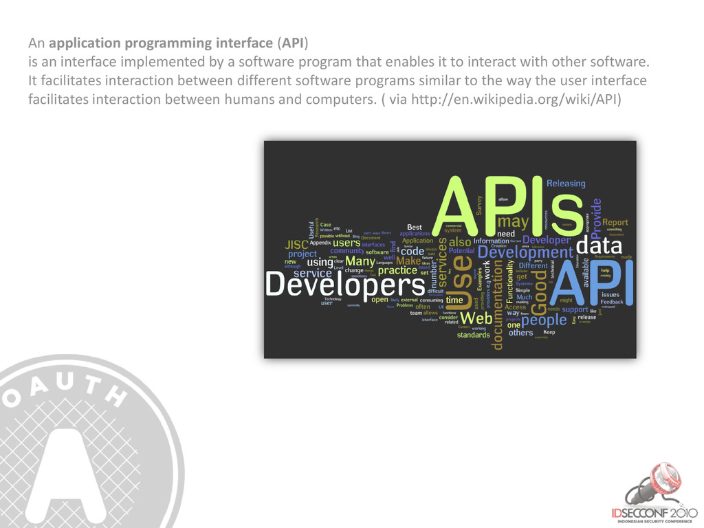 An application programming interface (API) is a...