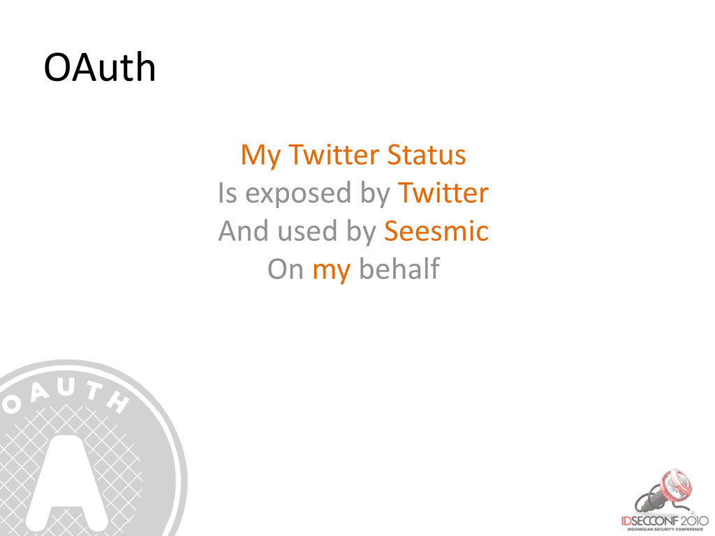 OAuth My Twitter Status Is exposed by Twitter A...