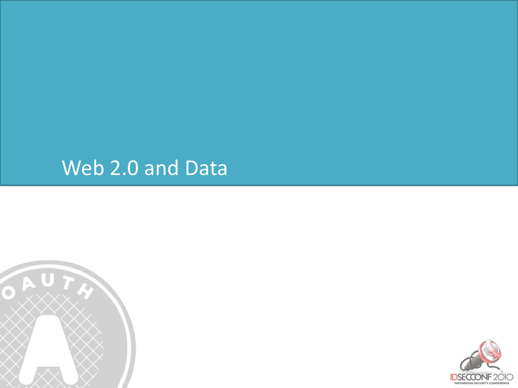 Web 2.0 and Data