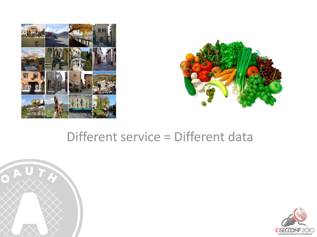 Different service = Different data