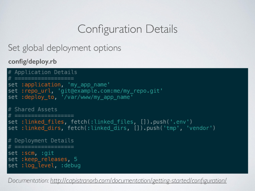 Configuration Details # Application Details # ==...