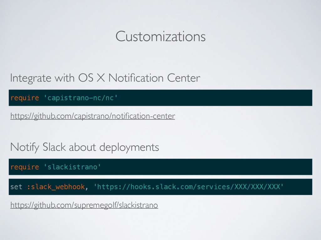 Customizations Integrate with OS X Notification ...