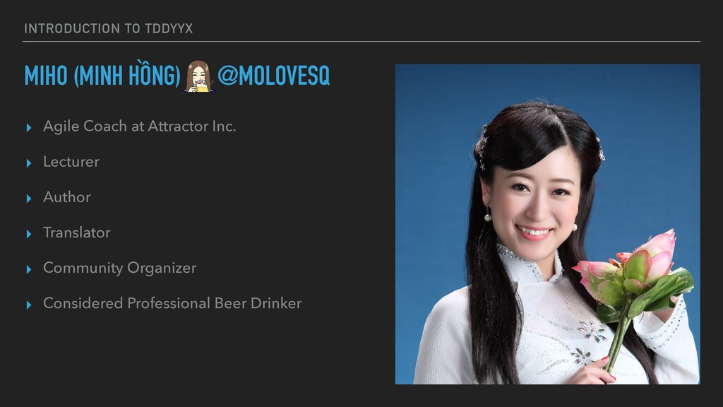 INTRODUCTION TO TDDYYΧ MIHO (MINH HỒNG) @MOLOVE...