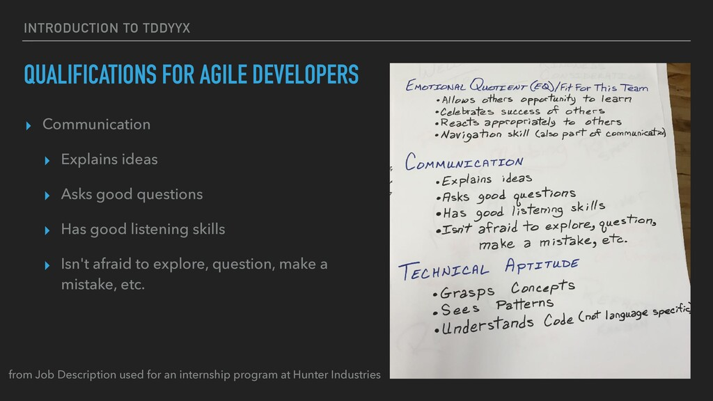 INTRODUCTION TO TDDYYΧ QUALIFICATIONS FOR AGILE...