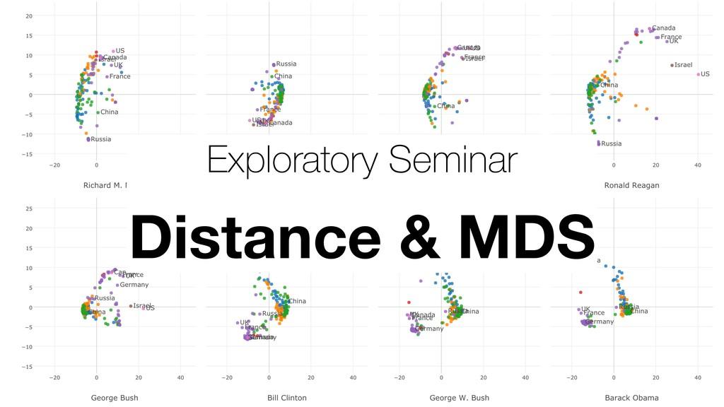 Exploratory Seminar Distance & MDS