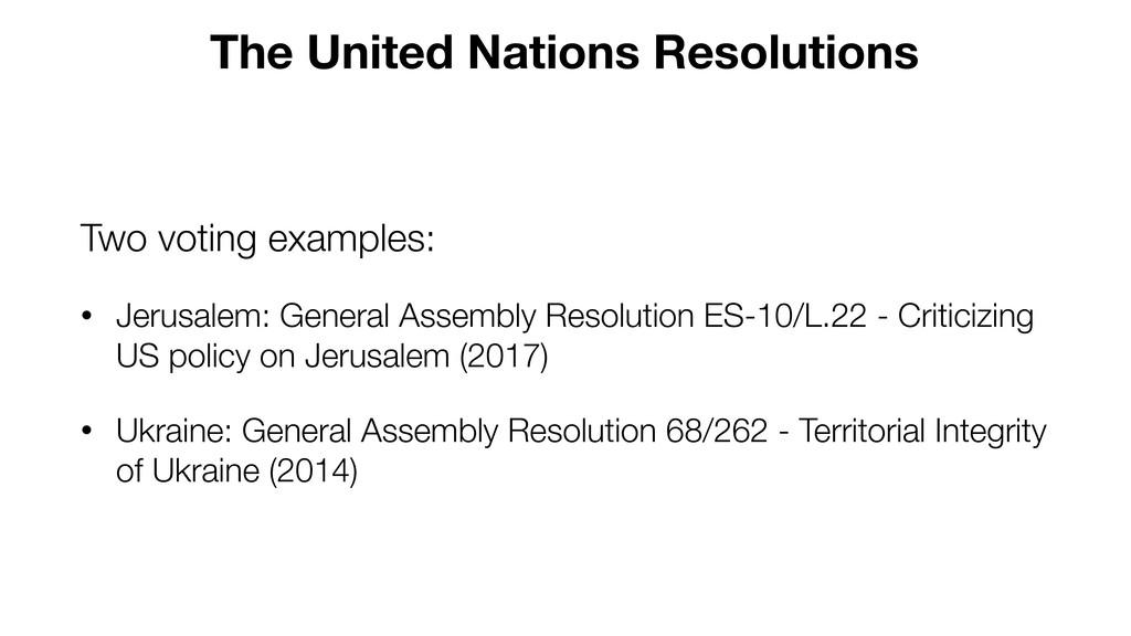 Two voting examples: • Jerusalem: General Assem...