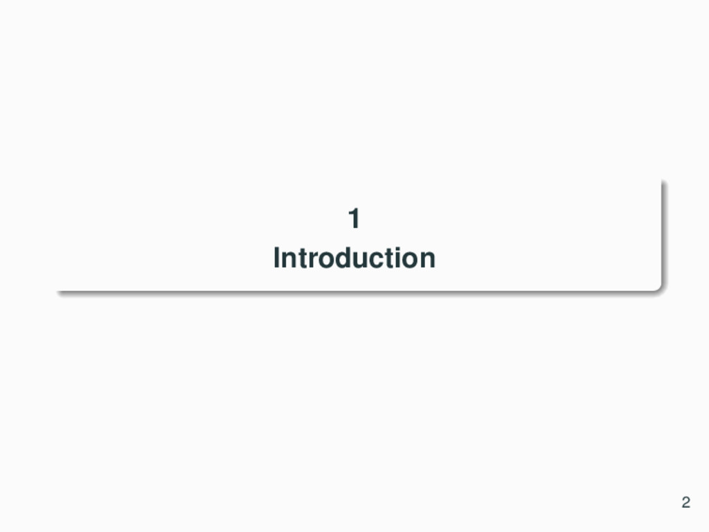 1 Introduction 2