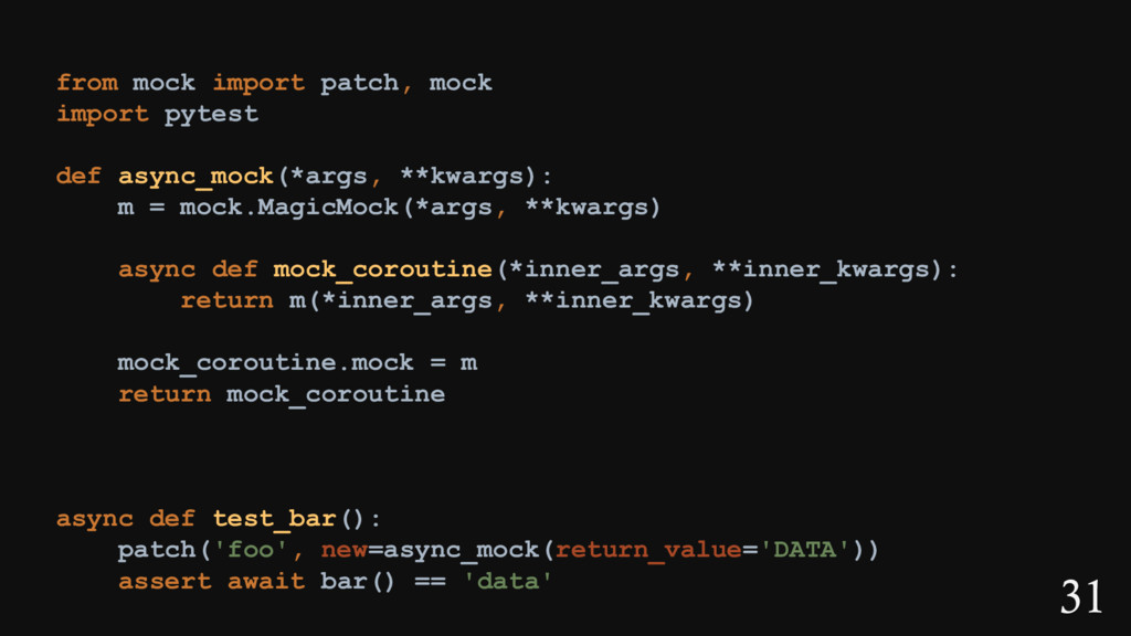 31 from mock import patch, mock import pytest d...
