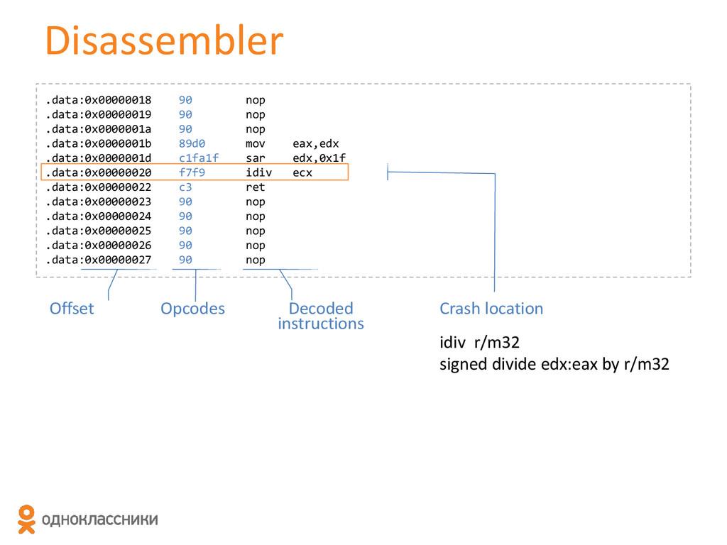 Disassembler .data:0x00000018 90 nop .data:0x00...